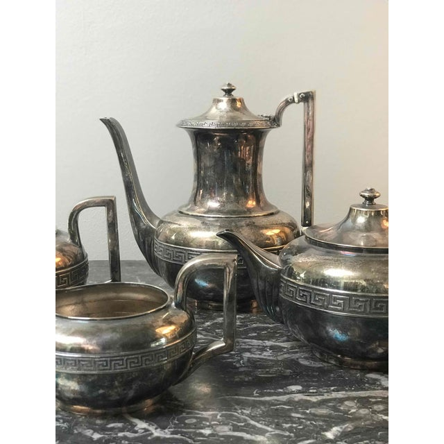 Four-Piece Gorham Silver-Plated Tea and Coffee Set From the 1920s For Sale - Image 4 of 7