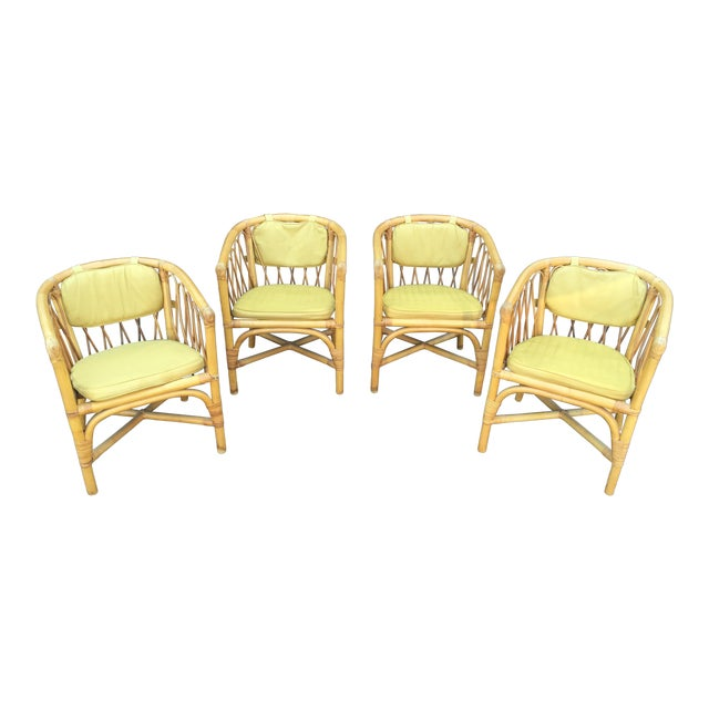 Vintage Ficks & Reed Rattan Barrel Chairs - 4 - Image 1 of 11