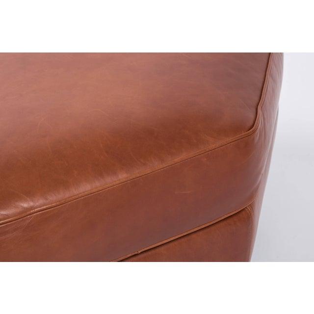 2010s Custom Edelman Leather Hexagonal Ottoman For Sale - Image 5 of 8