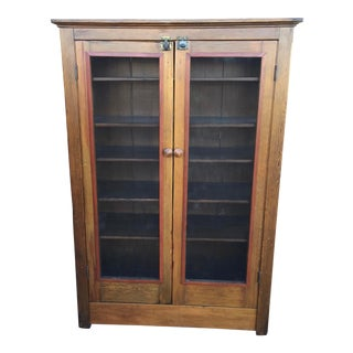 Antique American Pie Safe Cupboard For Sale