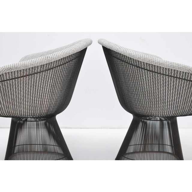 Pair of 1960s Bronze Warren Platner Lounge Chairs For Sale - Image 11 of 12