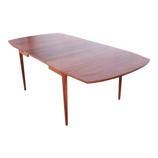 Kipp Stewart for Drexel Declaration Walnut Extension Dining Table For Sale