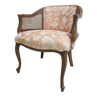 Henredon French Regency Cane Barrel Back Chair