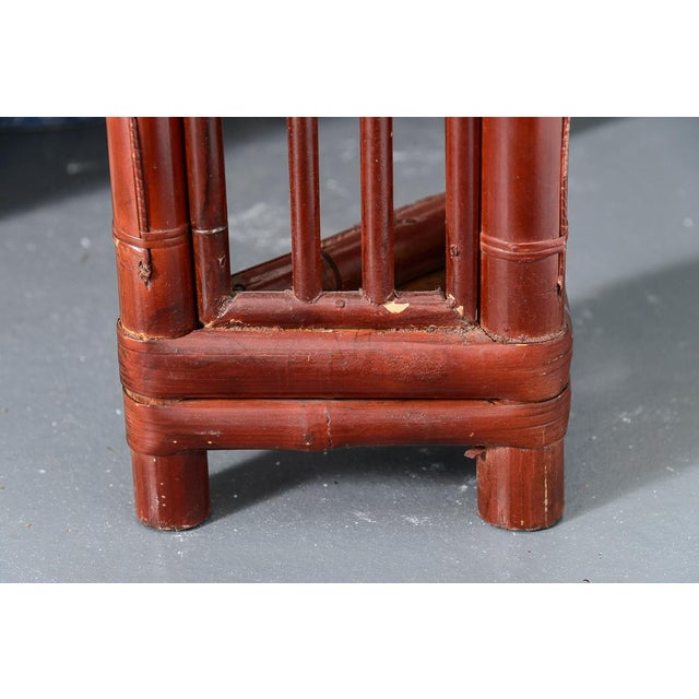 Antique Chinese Chippendale Bamboo Altar Table/Console For Sale - Image 12 of 13