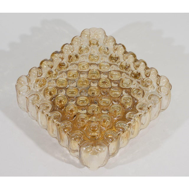 Bubble Amber Tone Flush Mount For Sale In New York - Image 6 of 8