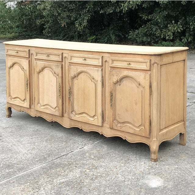 French 19th Century Grand Country French Stripped Oak Buffet For Sale - Image 3 of 13
