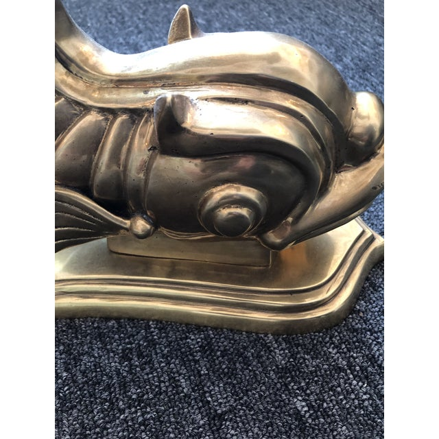 1970s Neoclassical Dolphin Coffee Table Base For Sale In Houston - Image 6 of 9