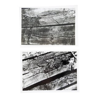Abstract Wood Photographs - a Pair For Sale