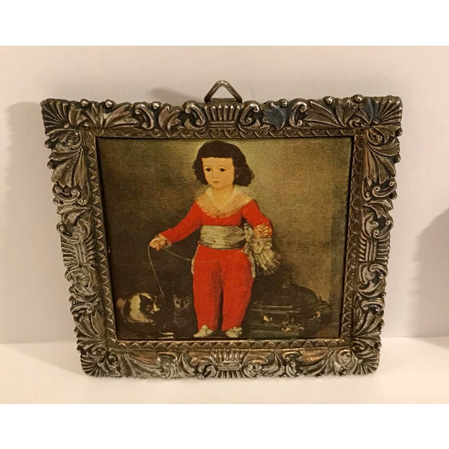 Asian Vintage Japanese Miniature Silk Prints - a Pair For Sale - Image 3 of 9
