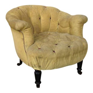 Tufted French 19th Armchair For Sale