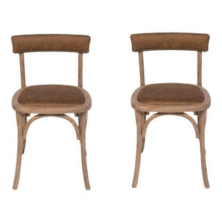Sarreid LTD Patrick Pool Room Chairs - A Pair For Sale
