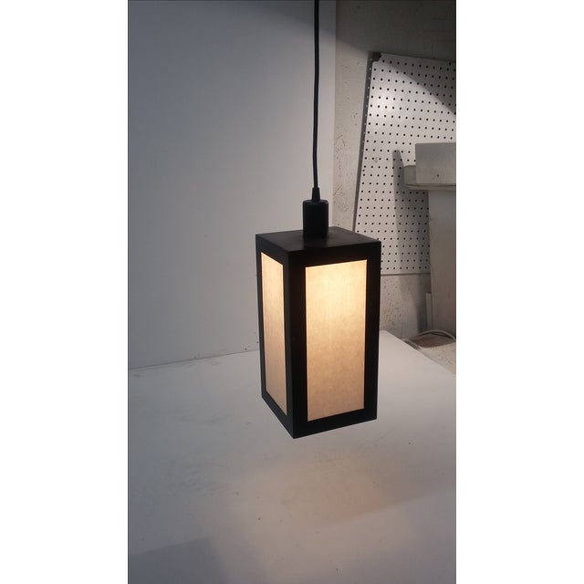 Asian Kamakura Pendant Light For Sale - Image 3 of 4