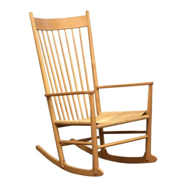 Hans Wegner Danish Rocking Chair For Sale