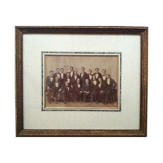 """Vintage Photo Portrait """"Gathering of Gentlemen"""" Framed For Sale"""