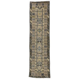 Vintage Turkish Oushak Runner with Modern Tribal Style in Light Colors