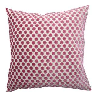 FirmaMenta Italian Pink Polka Dot Velvet Pillow