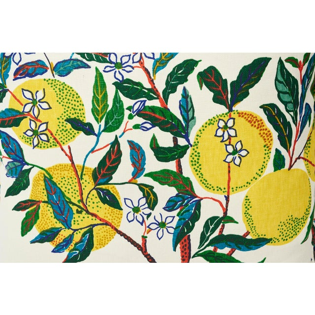 Schumacher Schumacher Double-Sided Pillow in Citrus Garden Primary Linen Print For Sale - Image 4 of 8
