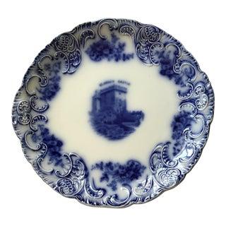 Flow Blue Tribley Semi-Porcelian Blarney Castle Plate