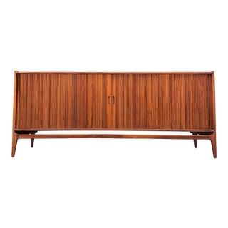 1960s Richard Thompson for Glenn of California Mid Century Modern Tambour Door Credenza For Sale