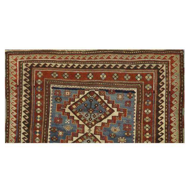 Traditional Antique Kazak Rug - 5 x 6.10 For Sale - Image 3 of 4