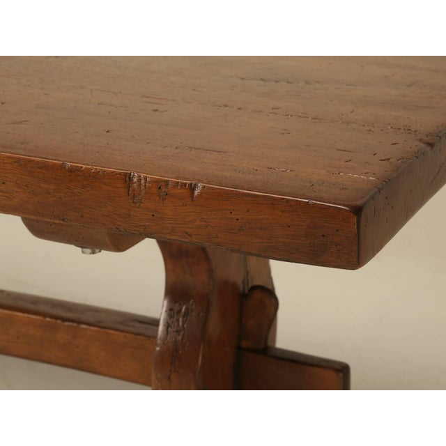 1920s French Trestle Table in Solid Mahogany For Sale - Image 5 of 11
