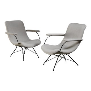 Pair of Carlo Hauner and Martin Eisler Lounge Chairs, Brazil
