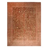 Image of 19th Century Antique Tabriz Beige-Brown and Pink Wool Pictorial Rug- 9′7″ × 12′5″ For Sale