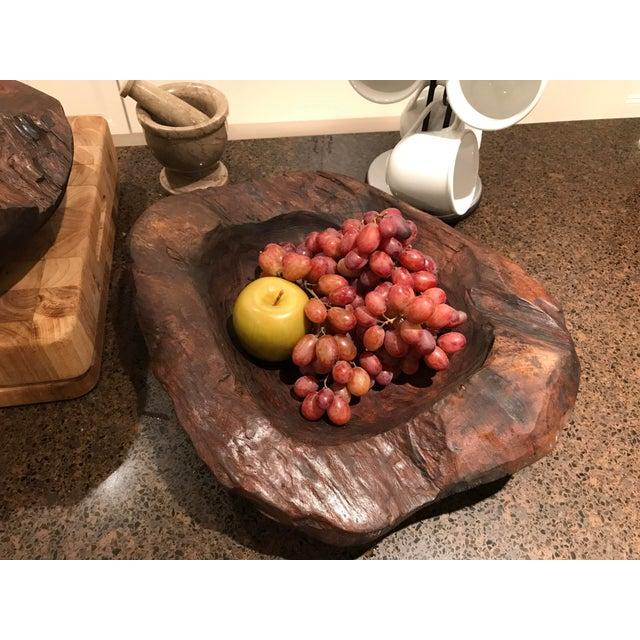Teak Wood Bowls - A Pair - Image 8 of 12