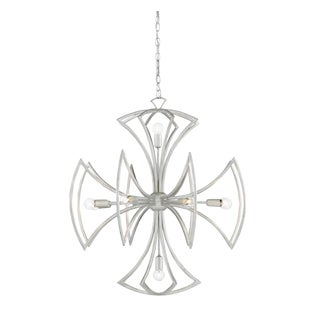 Modern Currey & Co. Metal Malta Chandelier For Sale