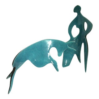 Matador & Bull Sculpture in Picasso Style - 2 Pc. For Sale