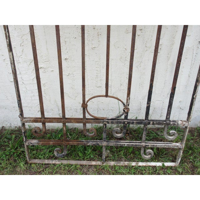 Traditional Antique Victorian Iron Gate For Sale - Image 3 of 7