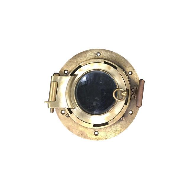 Vintage Brass Ship Porthole For Sale