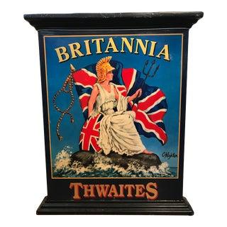 English C. Highton Thwaites Brittania Pub Sign
