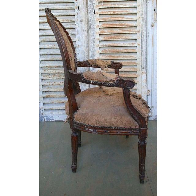 Louis XVI Style Armchair - Image 5 of 9