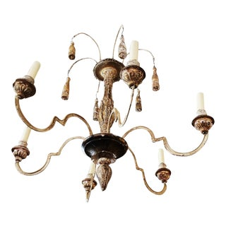 Small Wood and Iron Chandelier