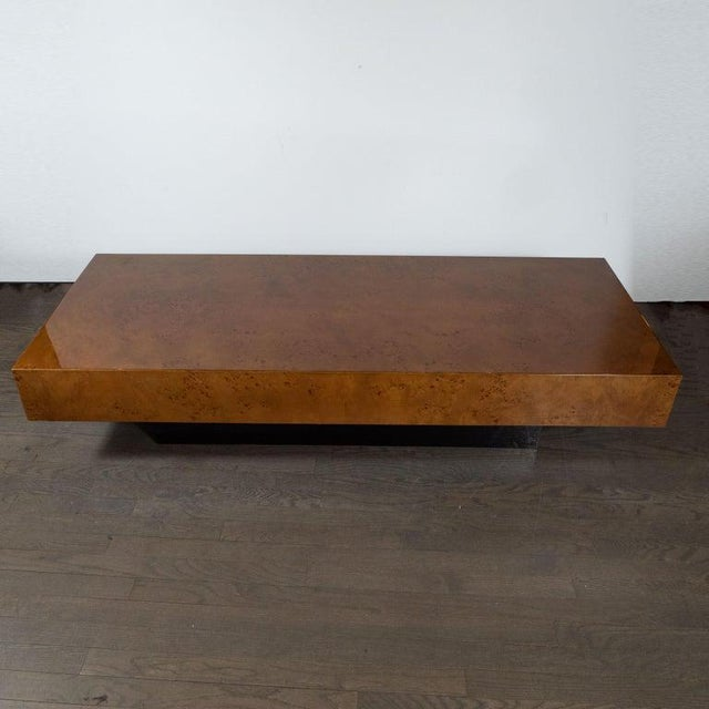 1970s Mid-Century Cocktail Table in Carpathian Elm and Ebonized Walnut For Sale - Image 5 of 6