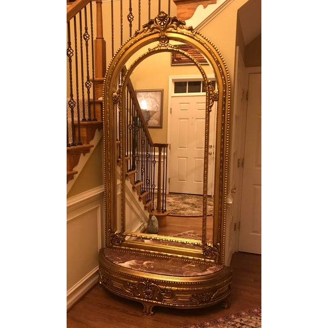 2010s French Louis XV Console With Mirror For Sale - Image 5 of 7