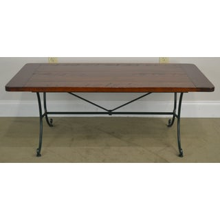 Charleston Forge Cherry Top Iron Base Coffee Table Preview