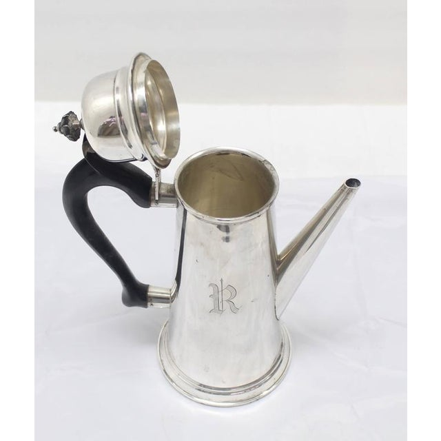 Jacob Hurd by Frank Whiting Sterling Silver Tea Coffee Pot For Sale In New York - Image 6 of 8