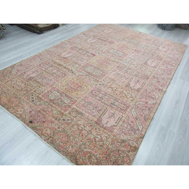 "Vintage Large Turkish Kayseri Rug - 97"" x 150"" For Sale - Image 4 of 5"