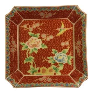 Vintage Cloisonne Style Decorative Dish For Sale