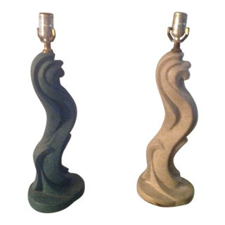 20th Century Art Deco Ceramic Table Lamps - a Pair For Sale