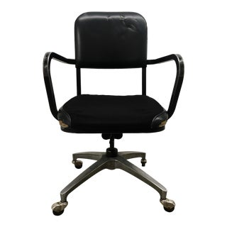 1970s Vintage Steelcase Style Tanker Desk Chair For Sale