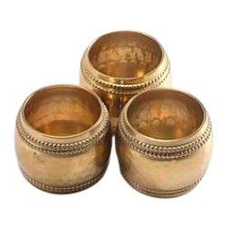 Antique Brass Napkin Rings - Set of 3