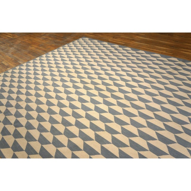 """American Modern Needlepoint Wool Rug 9'0"""" X 12'0"""" For Sale - Image 3 of 9"""