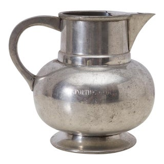 Vintage Dog Show Trophy English Pewter Pitcher For Sale