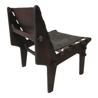 Angel Pazmino Sculptural Rosewood Lounge Chair Ecuador For Sale