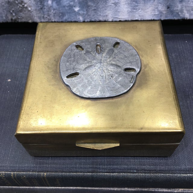 Vintage Brass Sand Dollar Box - Image 11 of 11
