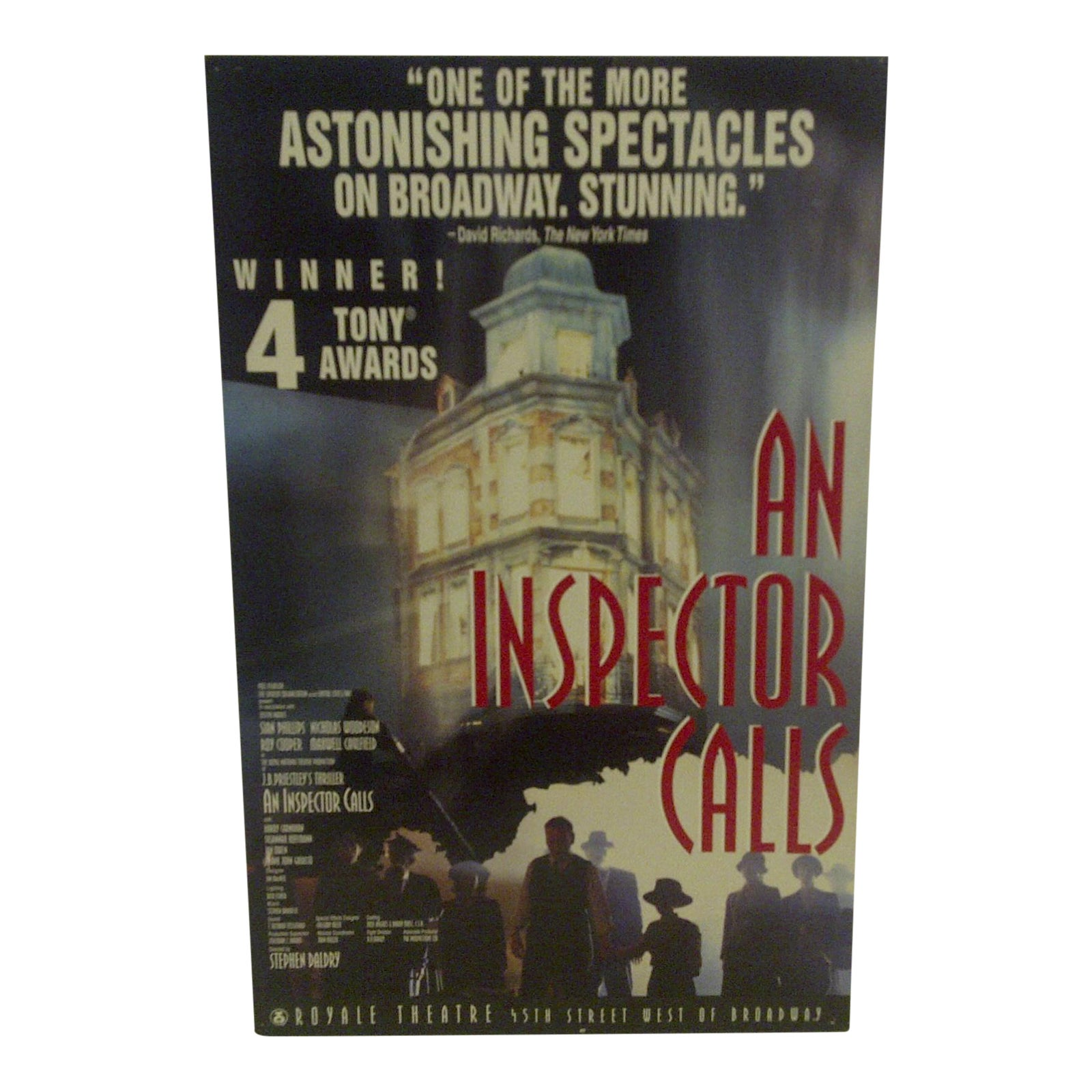 Vintage An Inspector Calls Royal Theatre Poster Chairish
