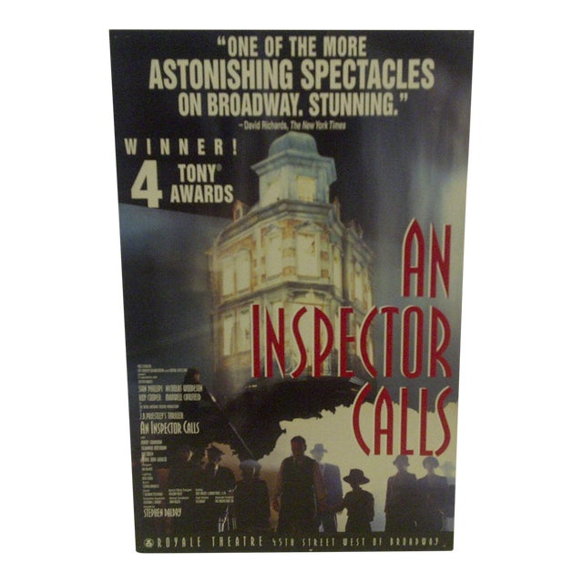 Vintage An Inspector Calls Royal Theatre Poster For Sale